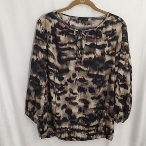 Willi Smith 3/4 sleeve blouse L